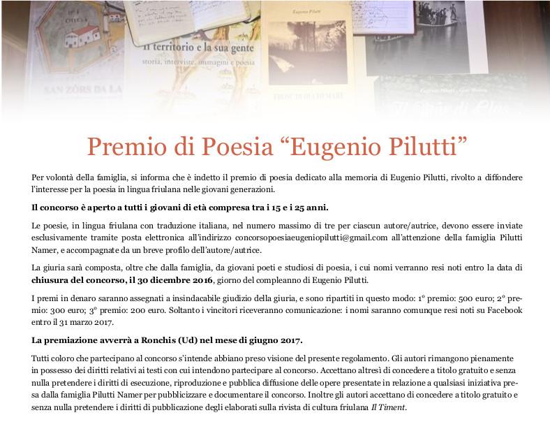 Premio di poesia Eugenio Pilutti