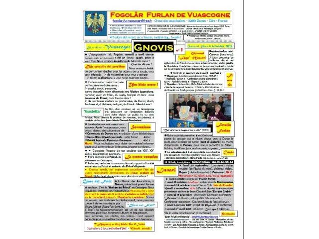 Bollettino del Fogolâr Furlan de Vuascogne n.1