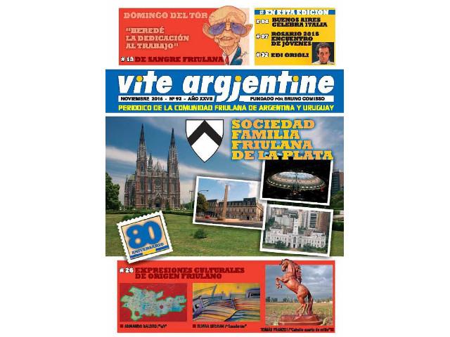 Il n. 93 di Vite Argjentine