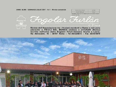 Rivista del Fogolâr Furlan Roma 1/2017 gennaio – giugno