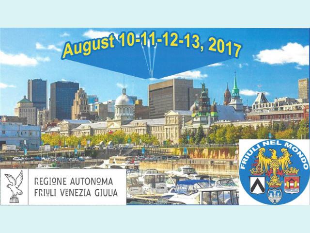 Congresso dei Fogolârs Furlans del Canada (Montreal, 10 – 13 agosto 2017)
