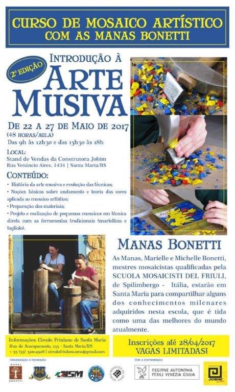Seconda edizione del Corso di Mosaico in Brasile (Santa Maria – RS , 22 – 27 maggio)