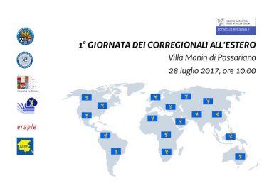 Prima Giornata dei corregionali all'estero (Villa Manin di Passariano – 28 luglio 2017, ore 10.00)