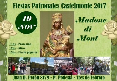 Fiestas Patronales Castelmonte 2017 (domenica 19 novembre – Unione Friulana Castelmonte, Pablo Podestà)