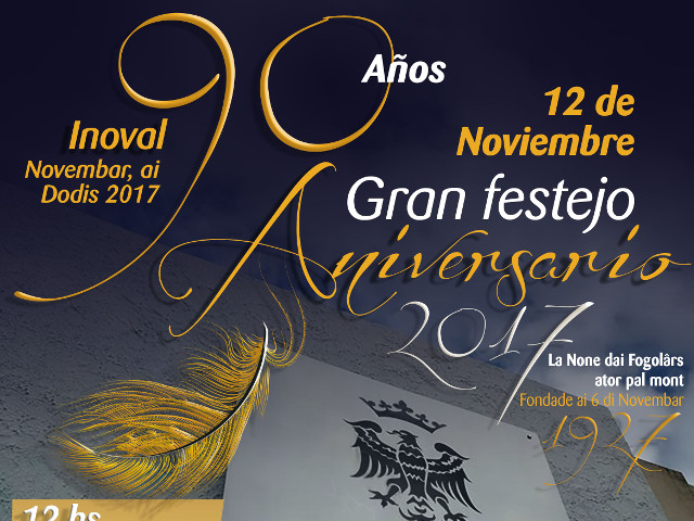 90° anniversario Sociedad Friulana Buenos Aires (sabato 11 e domenica 12 novembre, Navarro 3974 – Villa Devoto)