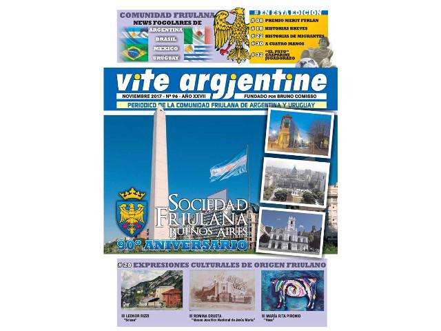 Il n. 96 di Vite Argjentine