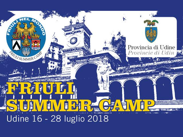 Friuli Summer Camp (Udine, dal 16 al 28 luglio 2018)