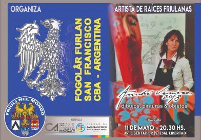 "Mostra ""Anahì Venica 2018 – dibujos, pinturas & objetos"" (Fogolâr Furlan San Francisco, Argentina – inaugurazione venerdì 11 maggio ore 20.30, av. Libertador (s) esq. Libertad)"