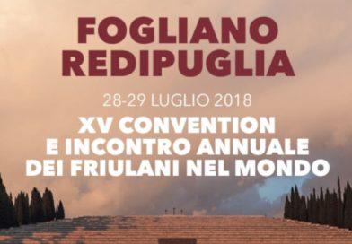 XV Convention e Incontro Annuale dei Friulani nel Mondo (Fogliano Redipuglia, sabato 28 e domenica 29 luglio 2018)
