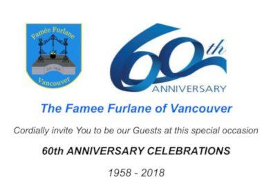 60° anniversario Famée Furlane Vancouver (sabato 13 e domenica 14 ottobre – 2605 East Pender Street, Vancouver, Canada)