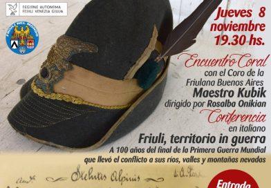 Concerto del Coro Alpino Monte Nero (Sociedad Friulana Buenos Aires, giovedi 8 novembre, ore 19.30)