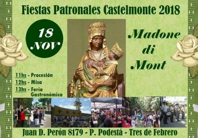 Fiestas Patronales de la Virgen de Castelmonte (Unione Friulana Castelmonte, Argentina – domenica 18 novembre, ore 11.00 – Juan D. Peròn 8179, P. Podestà, 3 de Febrero)
