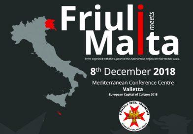 Inaugurazione Fogolâr Furlan di Malta (sabato 8 dicembre ore 9.30, Mediterranean Conference Centre – La Valletta, Malta)