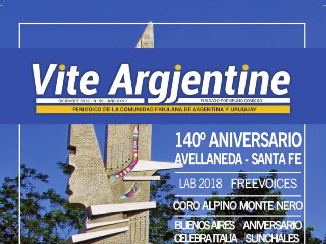 Il n. 99 di Vite Argjentine