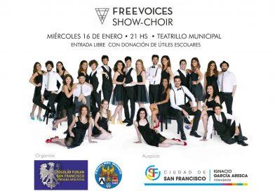 """Freevoices """"show-choir"""" (Fogolâr Furlan di San Francisco – Còrdoba, Argentina – mercoledì 16 gennaio ore 21, Teatrillo Municipal)"""