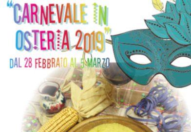 """""""Carnevale in osteria 2019"""" (Udine, dal 28 febbraio al 5 marzo 2019)"""