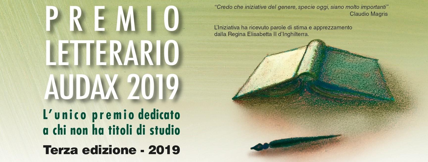Premio lettarario Audax 2019. L'unico premio dedicato a chi non ha titoli di studio (scadenza 21 luglio 2019)