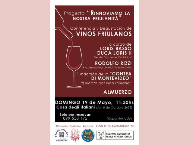 """Progetto """"Rinnoviamo la nostra friulanità"""" (Montevideo – domenica 19 maggio, ore 11.30, Casa degli Italiani)"""