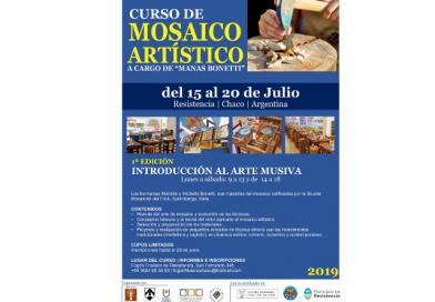 Curso de Mosaico Artistico (Fogolâr Furlan del Chaco, Resistencia, Argentina, dal 15 al 20 luglio 2019)
