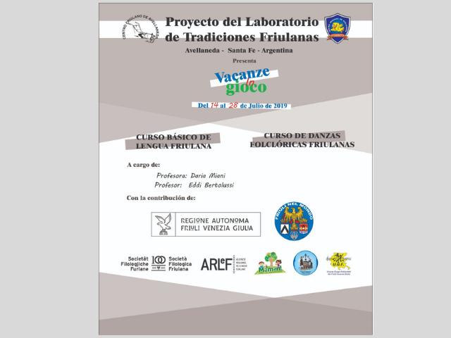 Proyecto del Laboratorio de Tradiciones Friulanas (Centro Friulano de Avellaneda, dal 14 al 28 luglio 2019)