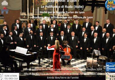 Lione, 19 e 20 ottobre 2019: i concerti del Coro Polifonico di Ruda nella Chiesa di St. Pothin e nella Basilica di Fourvière