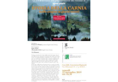 """Presentazione del libro di Igino Piutti """"Storia della Carnia"""" (Fogolâr di Roma, 22 novembre)"""