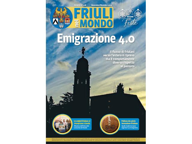 E' on line l'ultimo numero di Friuli nel Mondo di novembre-dicembre.