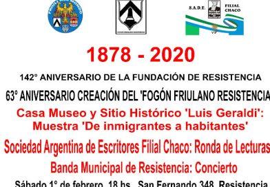 Iniziano i festeggiamenti per il 63° anniversario della creazione del Fogón Friulano di Resistencia. TUTTI INVITATI!!!