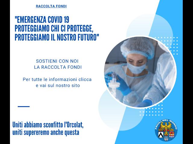 """RACCOLTA FONDI """"EMERGENZA COVID 19 – Proteggiamo chi ci protegge"""""""