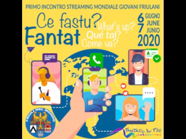 6 Giugno 2020 dalle ore 15.00 – I° Incontro Streaming Mondiale Giovani Friulani