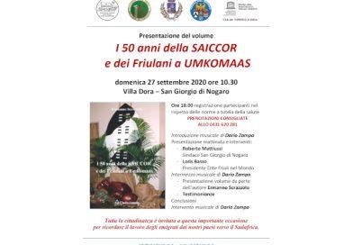 Presentazione del libro: I 50 anni della SAICCOR e dei Friulani a Umkomaas