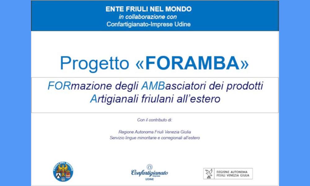 Progetto FORAMBA – Scadenza invio domande 25 giugno 2021