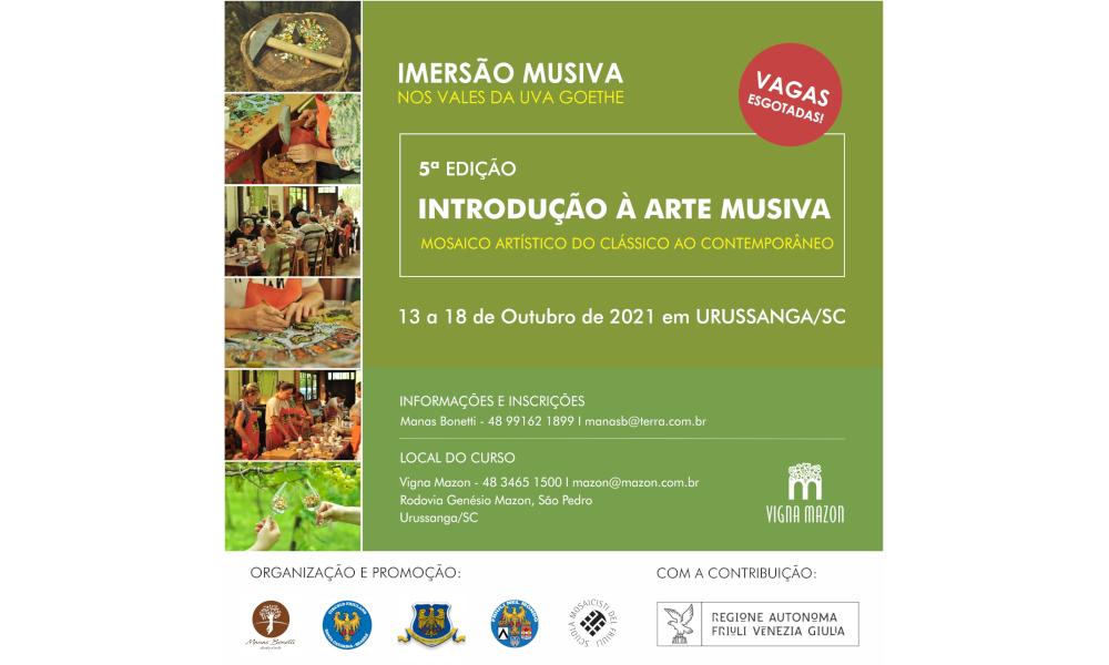 5^ Edizione del Corso di introduzione all'arte musiva in Brasile, a Urussanga
