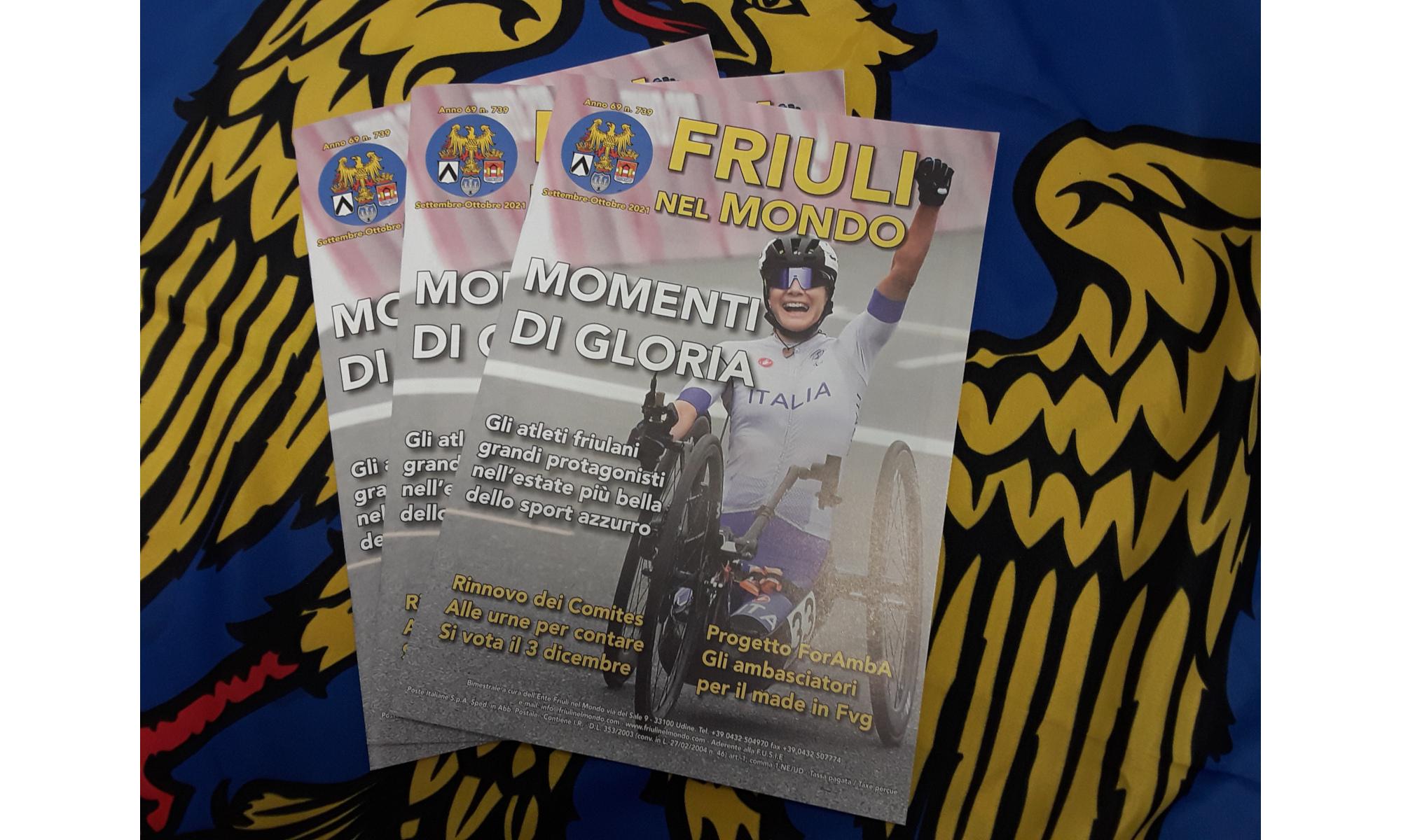 Friuli nel Mondo n. 739 (Settembre-Ottobre 2021) è ora on line