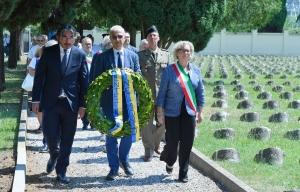 000 Friulani nel Mondo Deposizione corona a Fogliano 29-07-2018. © Foto Petrussi