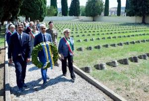 001 Friulani nel Mondo Deposizione corona a Fogliano 29-07-2018. © Foto Petrussi